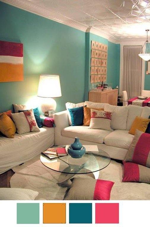 Las 25 mejores ideas sobre paredes color aqua en - Paleta de colores para interiores ...