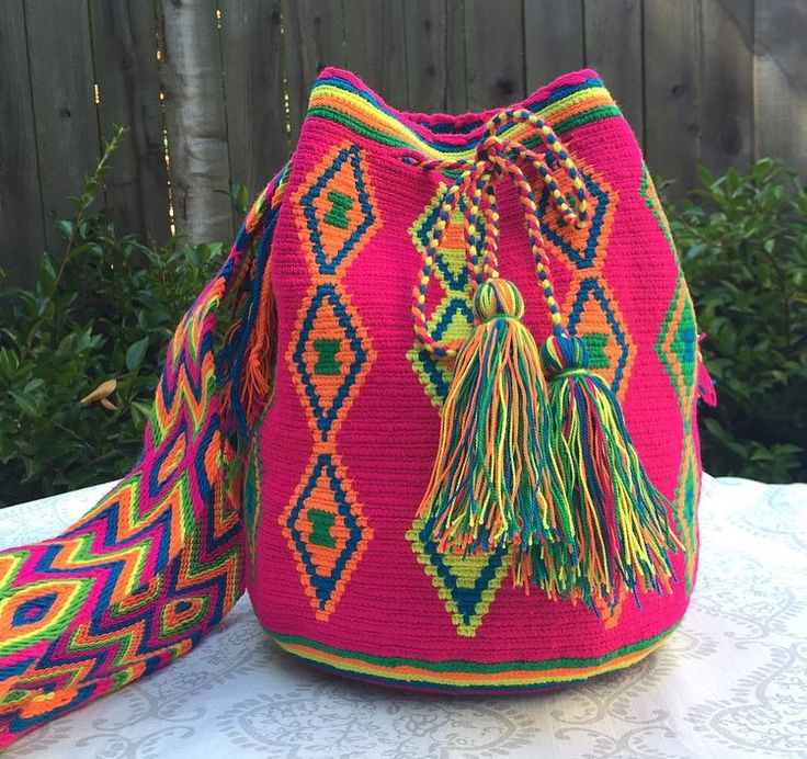 We are in LOVE with these Wayuu Tribe mochila bags. We purchased them directly from the tribes women who crafted them & paid fair trade prices. This ensures that they earn what is deserved. The women learn to craft these bags at a very young age. Each bag takes from days to weeks to make depending on the intricacy of the design. They are hand-crocheted and each one is a unique, one-of-a-kind piece of art. Once they are gone, they're gone forever! DM us for more info or feel free to