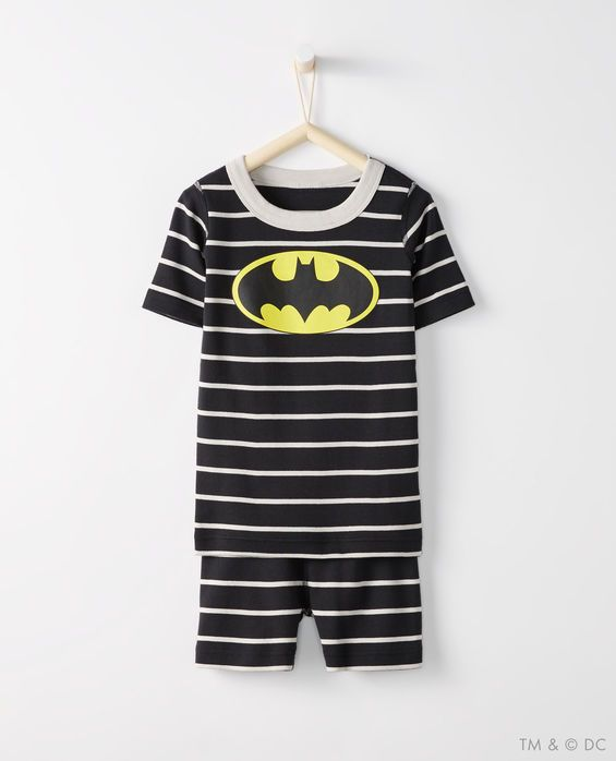 JUSTICE LEAGUE™ BATMAN™ Short John Pajamas In Organic Cotton  079450a1e