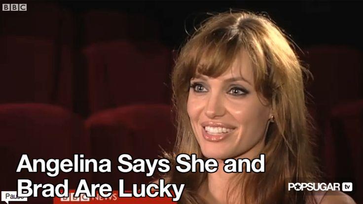 Video: Angelina Jolie Says She & Brad Pitt Are Lucky