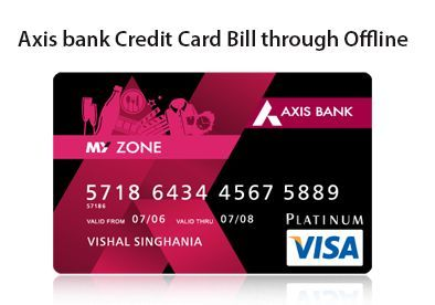Axis Bank Credit Card Bill Through Offline Bank Credit Cards