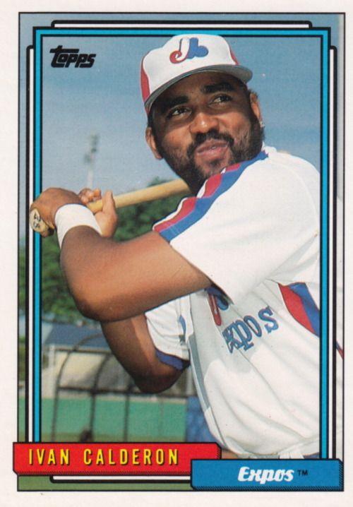 Random Baseball Card #3449: Ivan Calderon, outfielder, Montreal Expos, 1992, Topps.