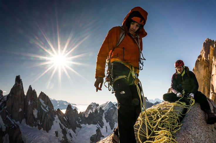Picture of Alex Honnold and Tommy Caldwell on attempting to climb the Fitz Traverse