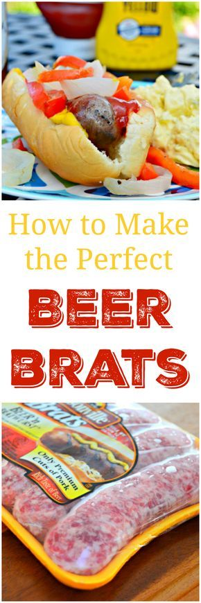 A step by step tutorial showing the best way to grill beer brats. These bratwurst are sure to become a family favorite for grilling. Great for large cookouts. Find the recipe on mom4real.com