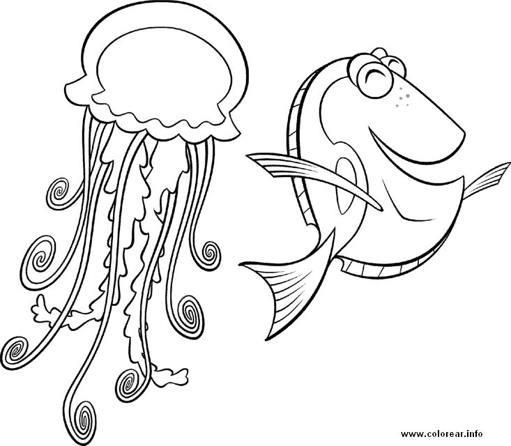 35 best Finding Nemo Coloring Pages images on Pinterest