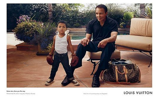 Muhammad Ali and Grandson for Louis Vuitton CampaignLouisvuitton, Muhammad Ali, Louis Vuitton, Ads Campaigns, Mohammed Ali, Annie Leibovitz, Cores Values, Mohammadali, Grandson