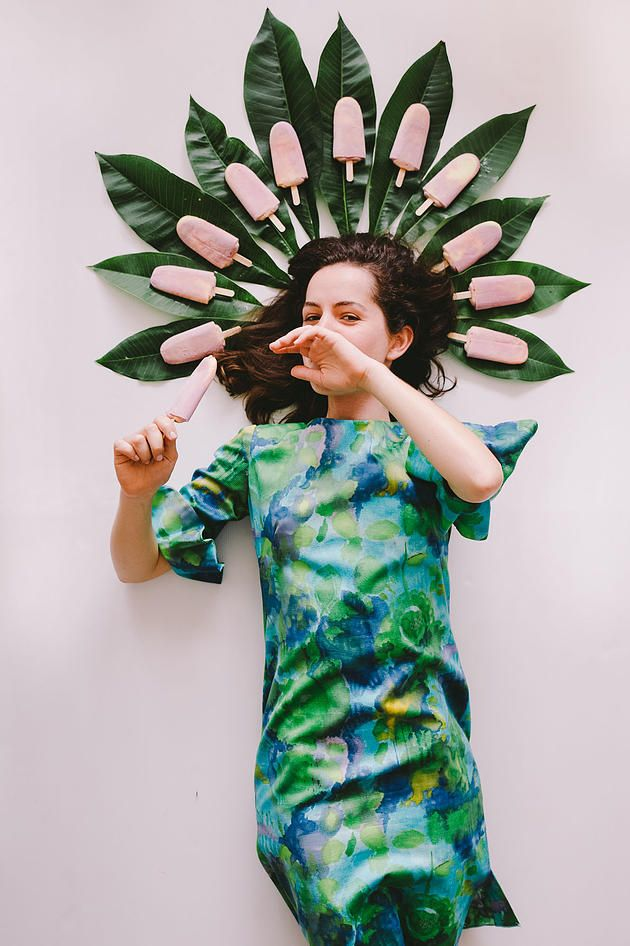 THE PATTERN PROJECT | Vintage Fashion + Tropical leaves + Paddle Pops!