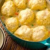 Quick Chicken and Dumplings recipe from Betty Crocker