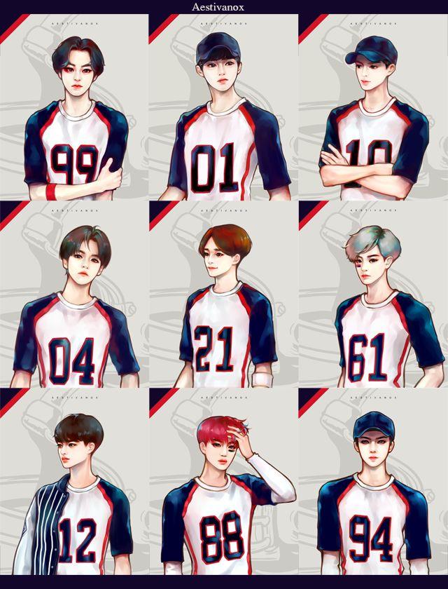 EXO Fanart Kpop cartoon/ art Pinterest Sehun, Fanart y album