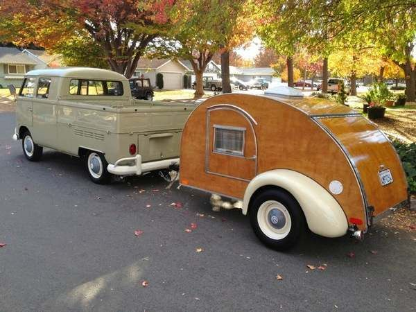 I wanted to show you this all wood hand built teardrop camper for sale finished in 2013. It was a six year project even the trailer frame was custom built. Built with one inch birch wood that's tre...