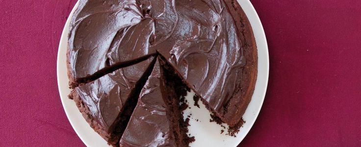 Čokoládový dort s červenou řepou