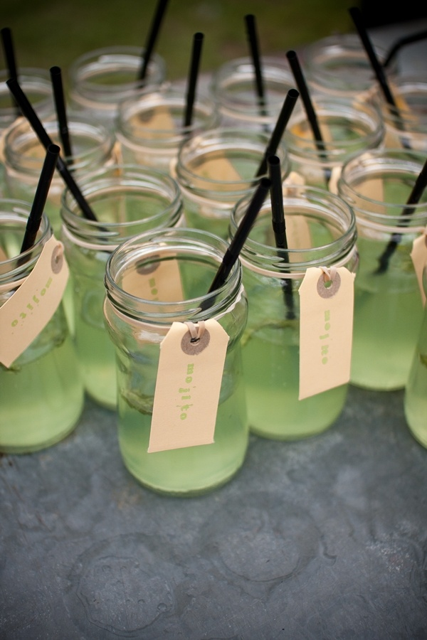 elastics with name tags :)Signature Drinks, Cocktails Cups, Bonfires Mason Jars, Mojito, South African Wedding, African Weddings, Homemade, Families, Cups Ideas