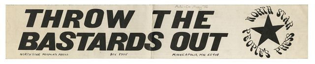 https://flic.kr/p/JLLavX | People's Press Bumper Sticker | A rectangular bumper sticker produced by North Star People's Press of Minneapolis, Minnesota, during the Co-op Wars, circa 1975. See this Wikipedia page for more information about the Co-Op wars.  For more information or to purchase a photograph of this item, view this sticker in our collections database.  Featured on the Minnesota Historical Society's Collections Up Close blog on July 13, 2016.