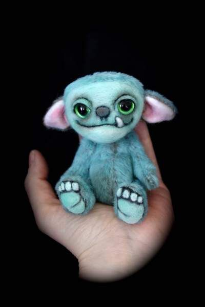 Gimo the little Monster by Lies & Lot Mohair Bears