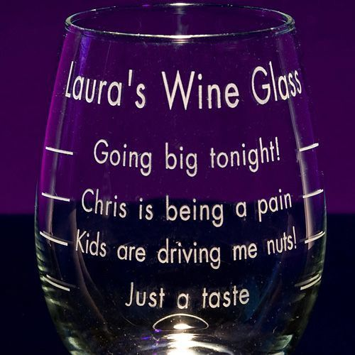Sayings On Wine Glasses Personalized Wine Glasses Engraved
