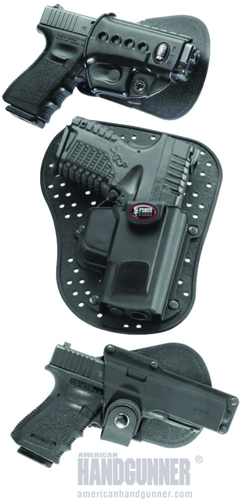 ONLINE EXCLUSIVE: Fobus Leads The Way | By Tank Hoover | Endless options from Fobus Holsters will have a combination to keep you and your sidearm happy, safe and secure. | © American Handgunner 2017
