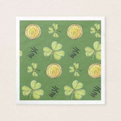 Luck Of The Irish Paper Party Napkins - paper gifts presents gift idea customize