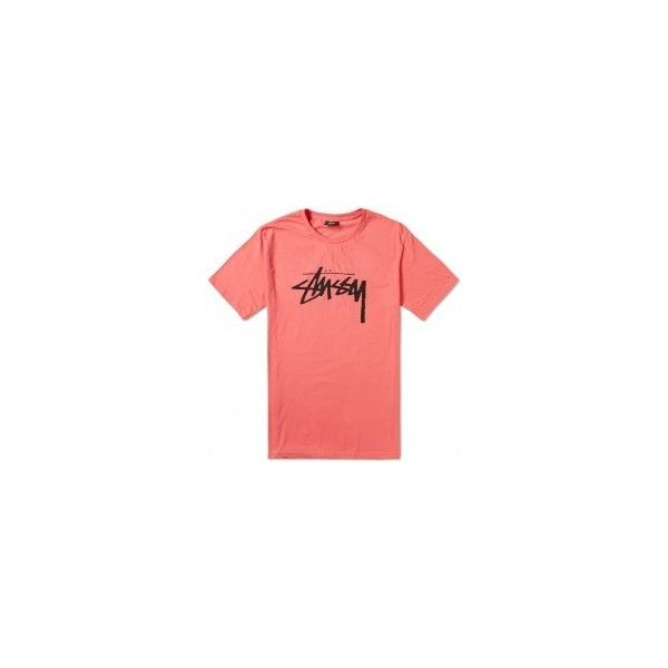 Stussy Stock Tee (350 HKD) ❤ liked on Polyvore featuring men's fashion, men's clothing, men's shirts, men's t-shirts, mens cotton shirts, mens print shirts, mens short sleeve t shirts, mens patterned shirts and mens short sleeve cotton shirts