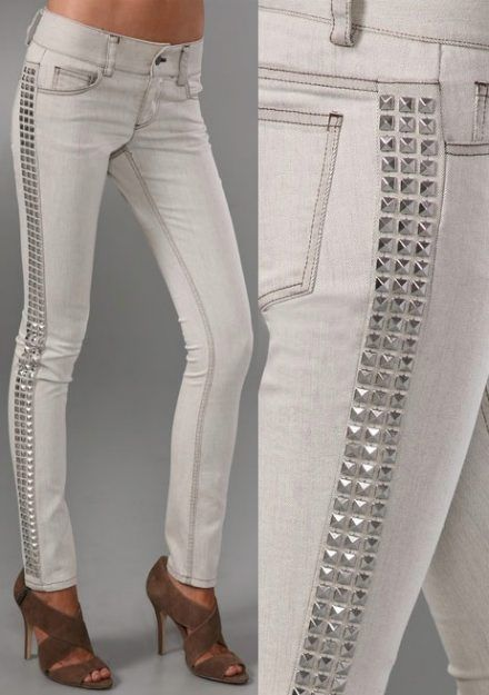 Studded Jean Jazz Up Your Jeans: DIY Denim Embellishments