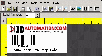 IDAutomation Barcode Label Software, bar code label printing application for Windows