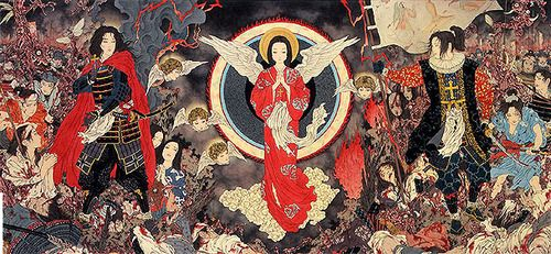 Scene from the Shimabara Rebellion, Amakusa Shiro Tokisada. from Divertimento For A Martyr. By Takato Yamamoto