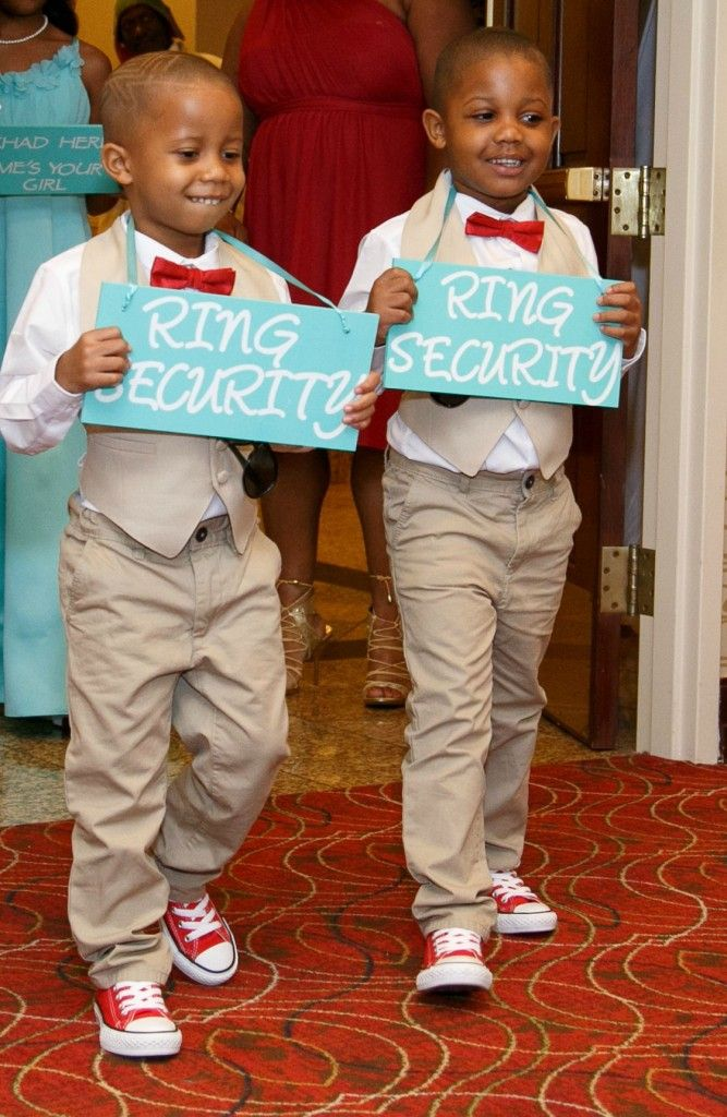 Ring Security || Bride || Wedding | Tiffany Blue and Red Wedding Inspiration || The Coordinated Bride