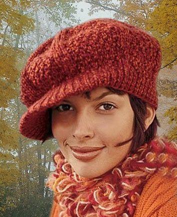 женская вязаная кепка
