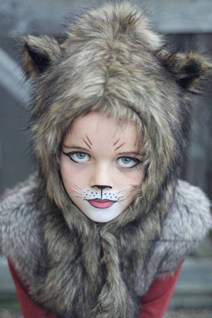 Maquillage de chat carnaval - Maquillage loup facile ...
