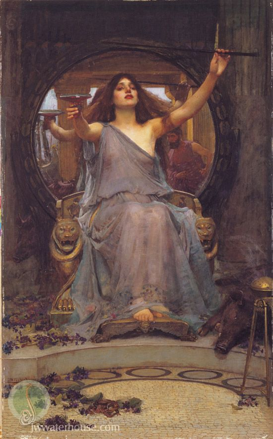 John William Waterhouse: 'Circe Offering the Cup to Ulysses' - 1891