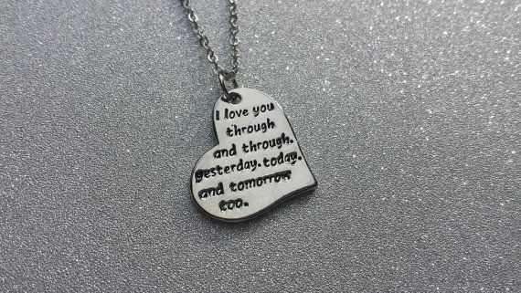 I love you through and through. Yesterday by SillySquirrelJewelry