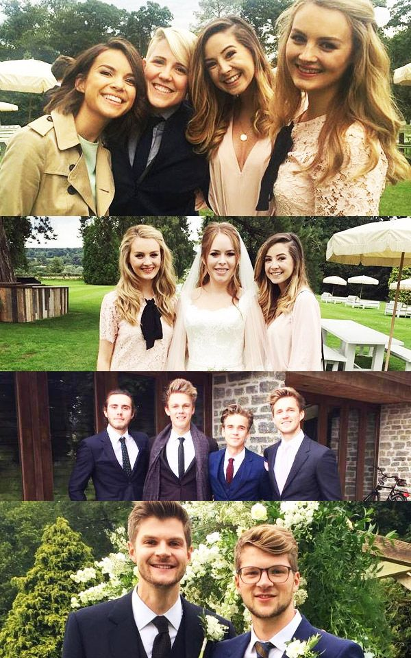 Tanya Burr & Jim Chapman wedding 09.06.15 (didn't really like Alfie's hair as he was growing it out)