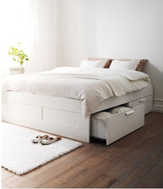 Best Ikea Brimnes White Luröy Bed Frame With Storage Bed 400 x 300