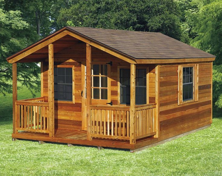 Amish Elite Cabin With Porch Kit Choose Size In 2019