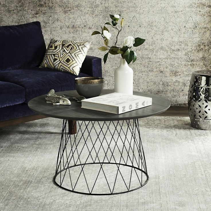 Safavieh Roe Dark Grey / Black Coffee Table