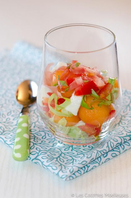 Les Cocottes Moelleuses: La verrine melon-mozzarella