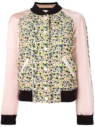 Coach reversible printed bomber jacket