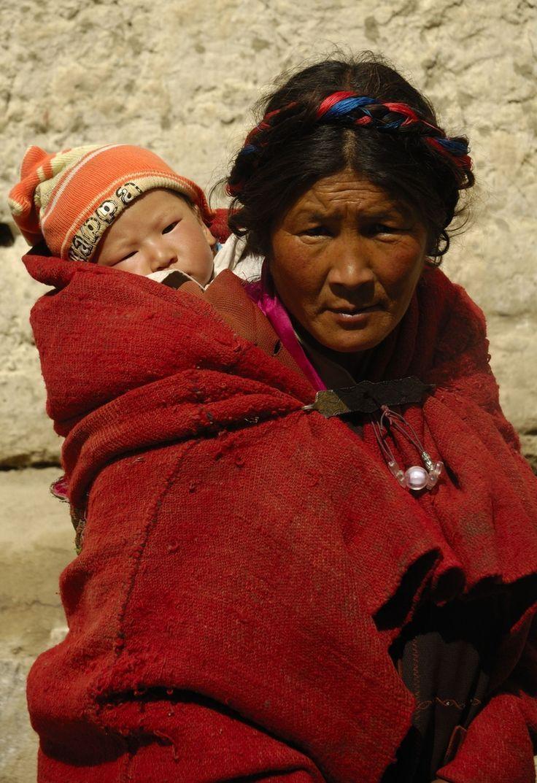 Tibetan mother and child