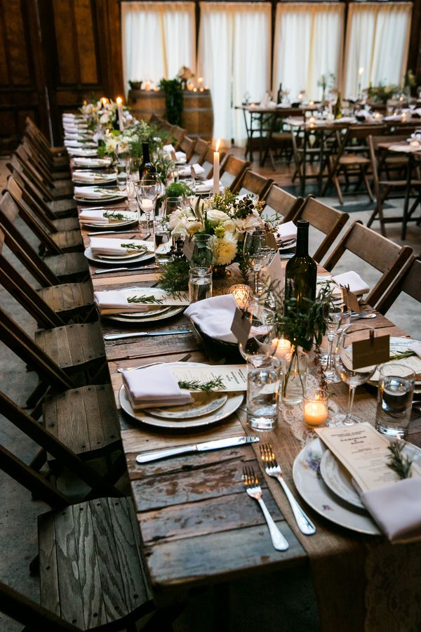 An Intimate Family-Style Wedding Reception at Brooklyn Winery | Kelly Williams, Photographer | http://heyweddinglady.com/romantic-rustic-urban-wedding-at-brooklyn-winery/