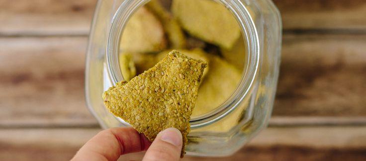 Turmeric Seedy Crackers