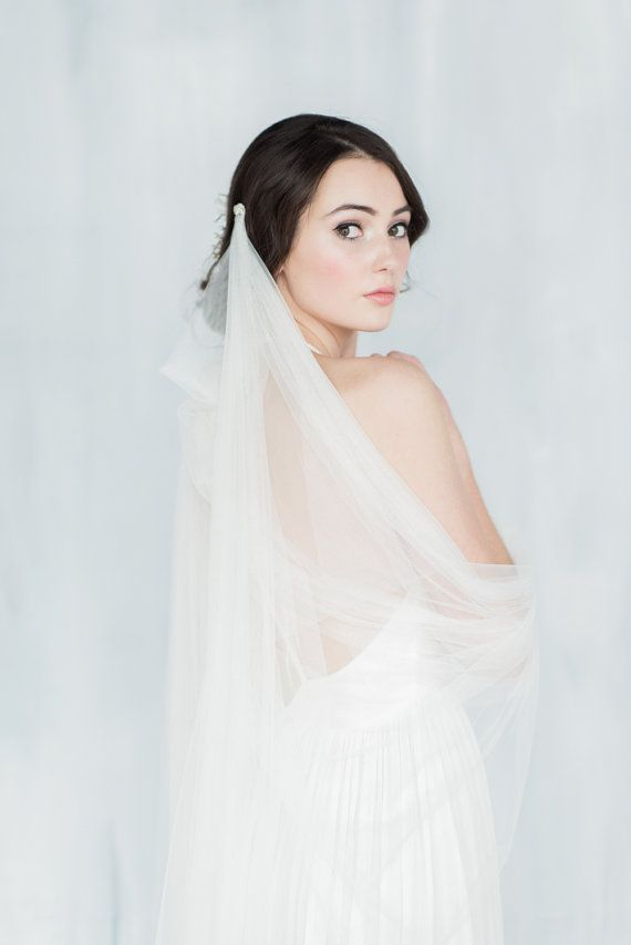 Hey, I found this really awesome Etsy listing at https://www.etsy.com/listing/266286410/draped-veil-tulle-veil-soft-veil