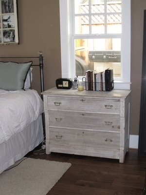 Distressed White Washed Dresser