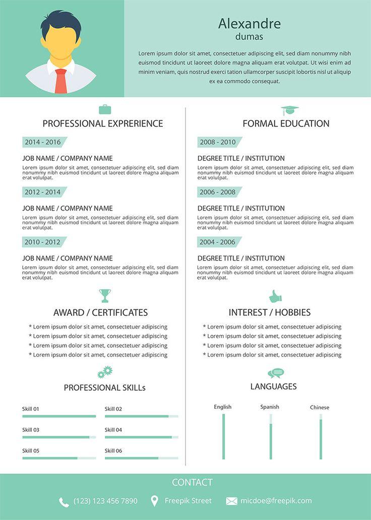 11 best CVu0027s images on Pinterest Cv resume template, Cv - art director cover letter
