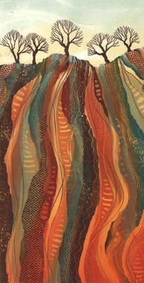 Hidden Depths by Rebecca Vincent     Monotype   Gallery, Alnwick