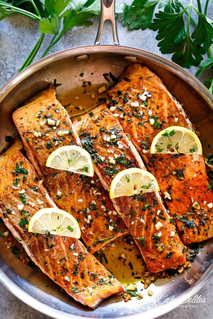 Crispy Seared Lemon Garlic Herb Salmon Easy