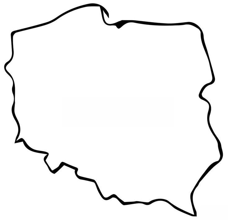 Kolorowanki: mapa Polski