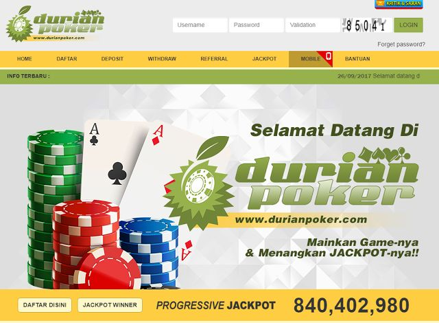 DurianPoker.com Adalah Agen Poker Terpercaya