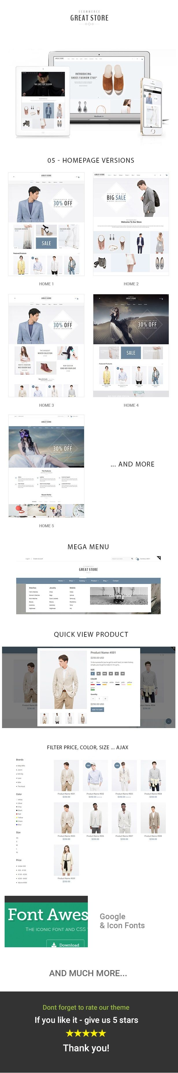 Google themes download for homepage - Great Store Ecommerce Prestashop Theme