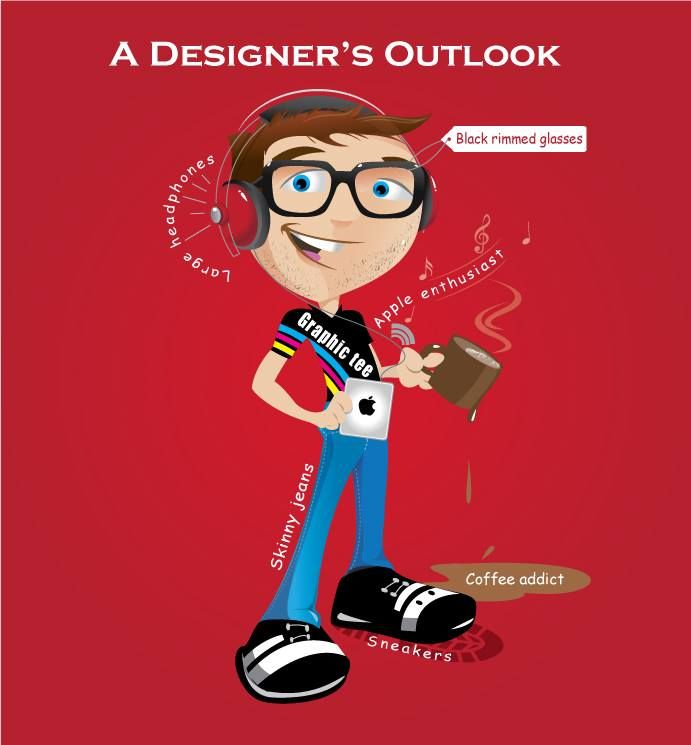 Here is an outlook of a graphic designer. Do you agree?