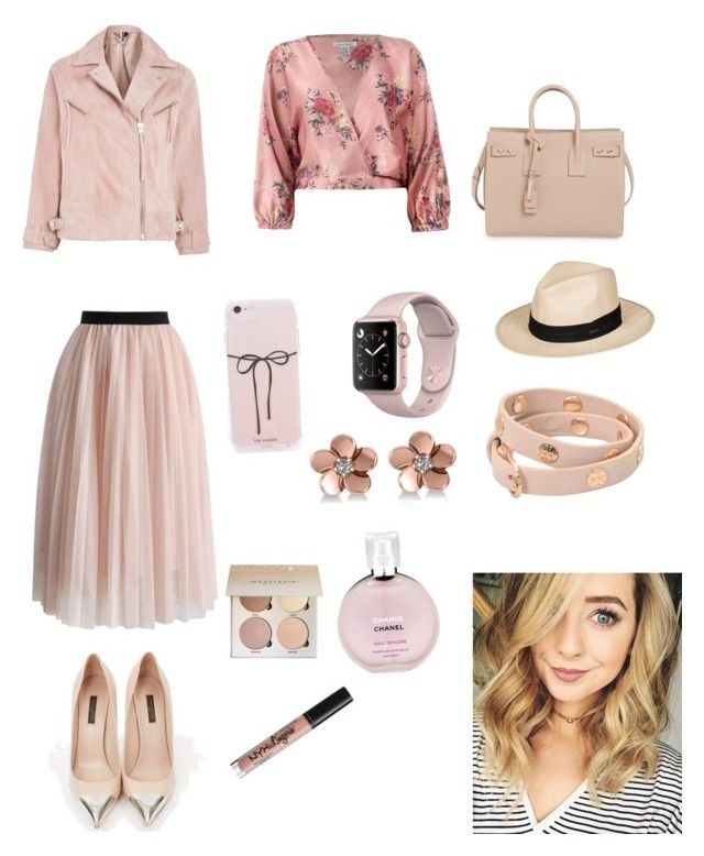"""Sin título #323"" by carolinaramirez-1 on Polyvore featuring moda, Topshop, Chicwish, Louis Vuitton, Sans Souci, Yves Saint Laurent, Roxy, Tory Burch, Allurez y Chanel"