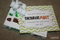 Thanks for being an encourageMINT! A thank you gift for volunteers in the classroom!